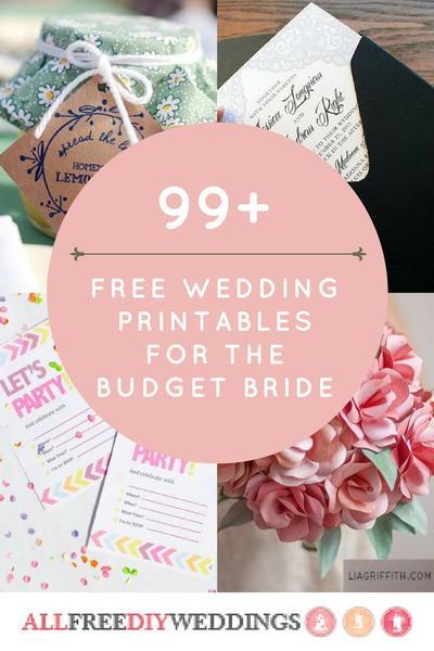 99 Free Wedding Printables for the Budget Bride
