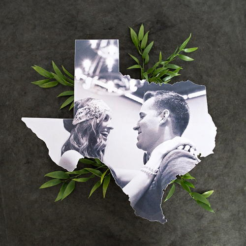 Decoupage Photo State Cutouts