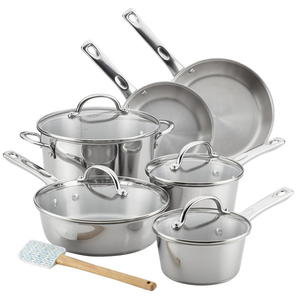 Ayesha 11-Piece Stainless Steel Cookware Set Giveaway