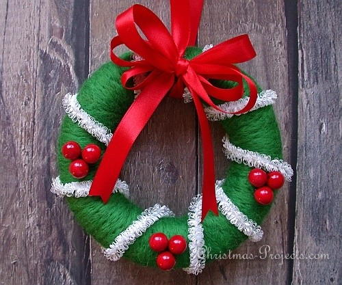 Soft Needle Felted Christmas Wreath