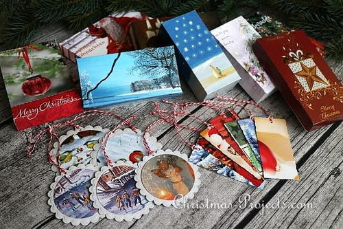 How to Upcycle Christmas Cards