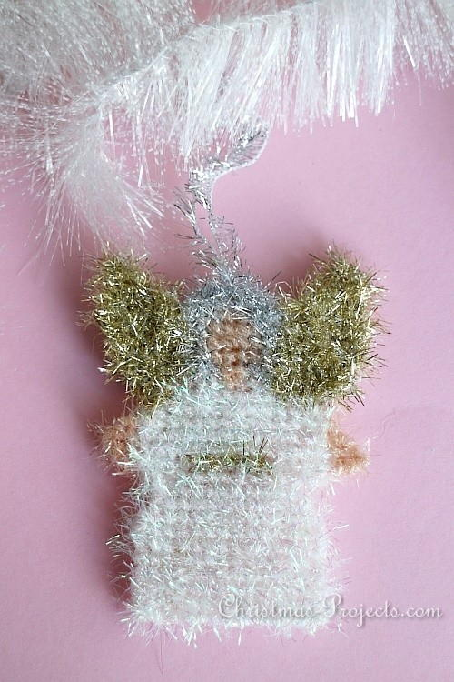 Lovely Scrubby Yarn Angel Ornament