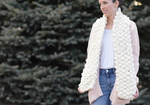 Big Luxurious Knit Scarf Pattern