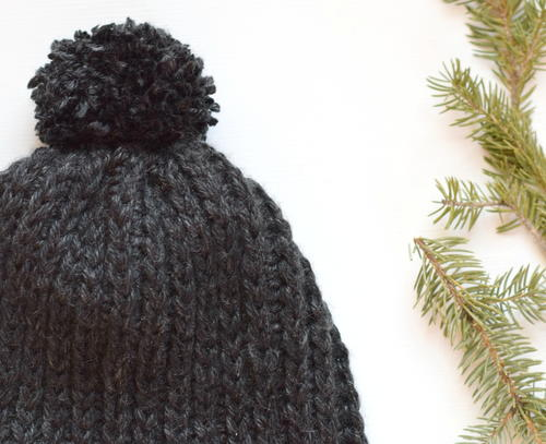 Knit Like Ribbed Crochet Hat Pattern