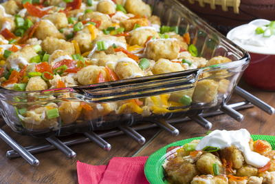 Huddled-Up Chicken Tots