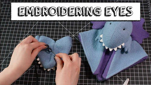 Embroidering Eyes with a Knot