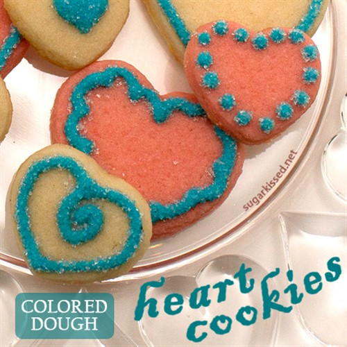 Colored Dough Heart Cookies