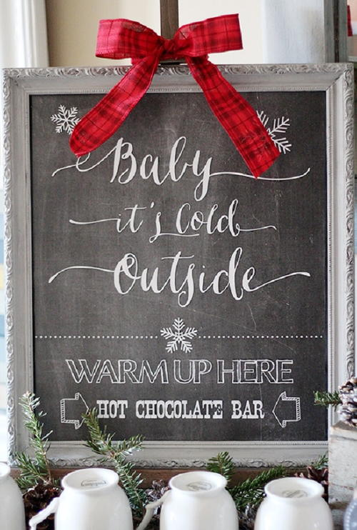 Hot Chocolate Bar Printable Sign