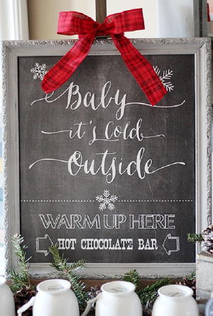 photograph about Hot Cocoa Bar Printable identified as Very hot Chocolate Bar Printable Signal