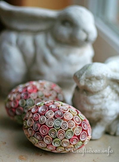 Lovely Quilled Paper Easter Eggs