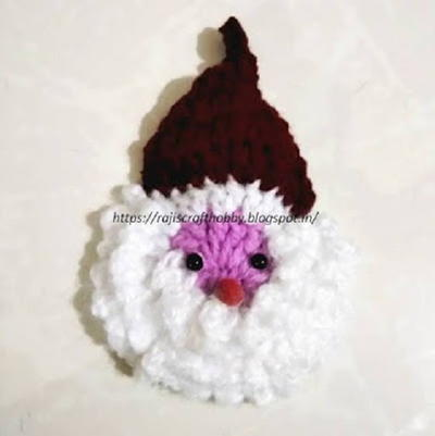 Quick and Easy Crochet Santa Ornament