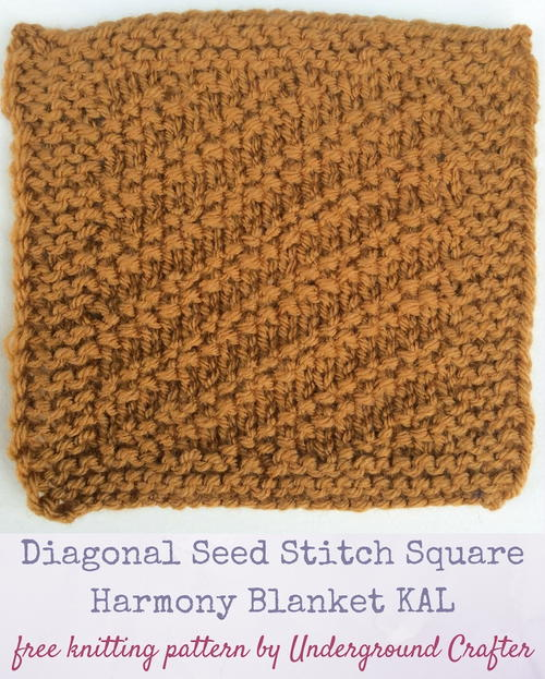 Diagonal Seed Stitch Square