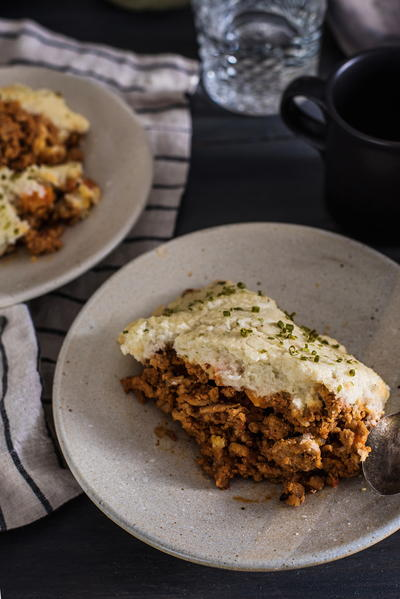 Mashed Cauliflower Paleo Shepherds Pie