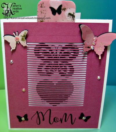 Personalized Butterfly Card with Movable Stamps