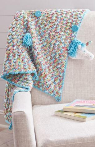 Unicorn Crochet Baby Blanket