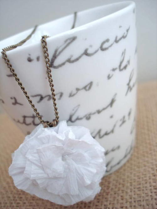 Crepe Paper Necklace