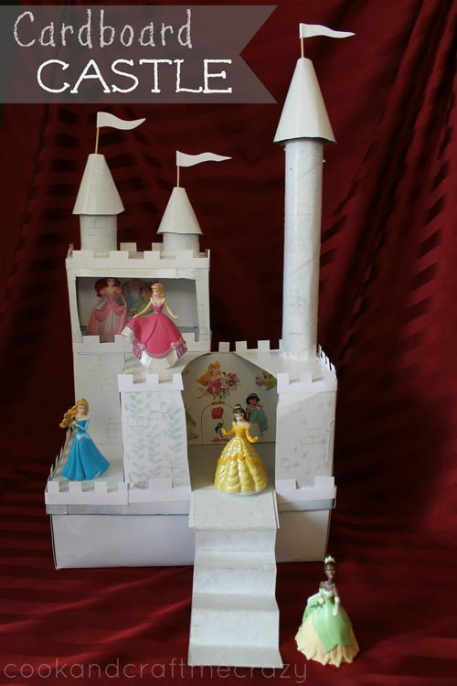 DIY Whimsical Cardboard Castle