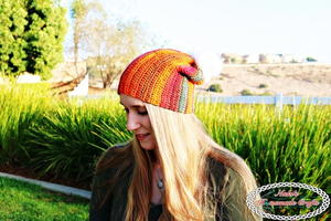 Sunset Striped Hat