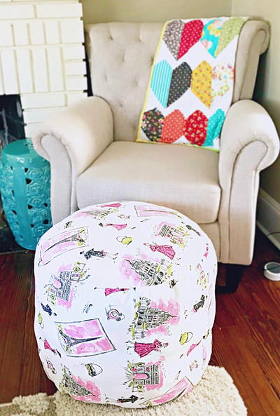 Colorful DIY Ottoman