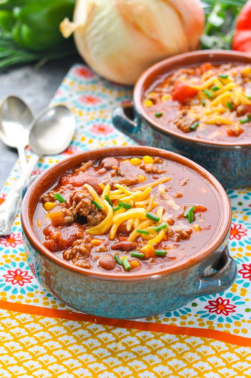 Healthy Slow Cooker Beef Chili