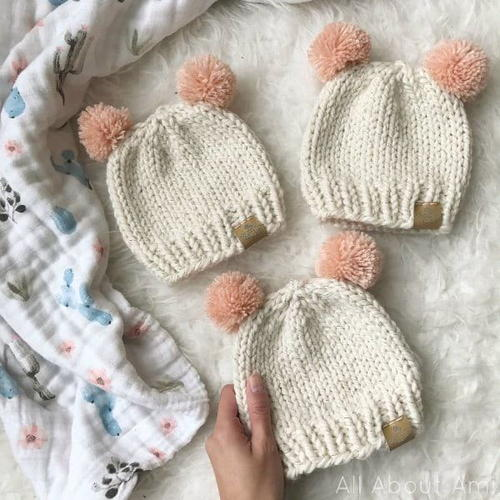 Basic Knitted Baby Hat  01d4135e1cf
