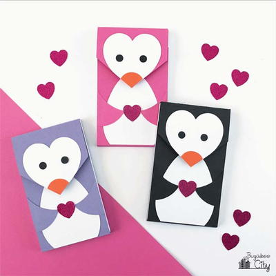 DIY Valentine's Day Penguin Notebooks