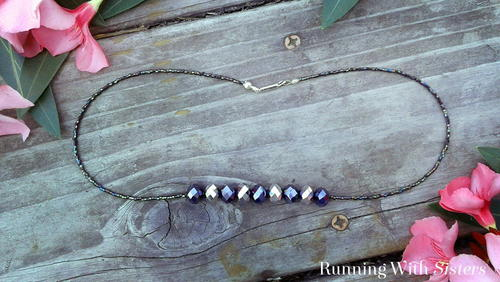 Midnight Beaded Rondelle Necklace