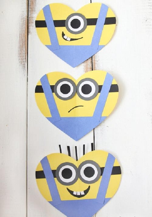 Adorable Minion Valentines Day Hearts