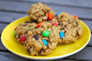 Gluten Free Monster Cookies