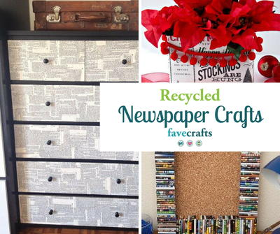 30 Recycled Newspaper Craft Ideas Favecrafts Com