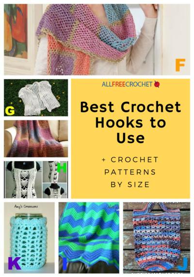 6 Best Crochet Hooks to Use + Crochet Patterns by Size