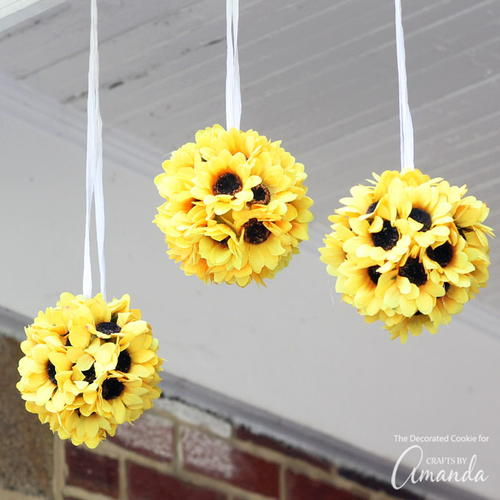 Sunflower Kissing Balls