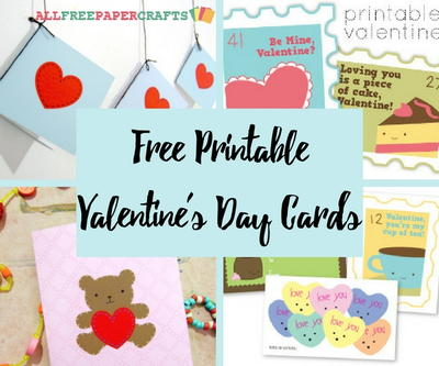 10 Free Printable Valentines Day Cards