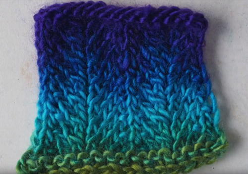 How to Knit the Chevron Stitch