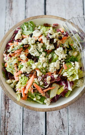 Copycat Outback Steakhouse Blue Cheese Pecan Chopped Salad
