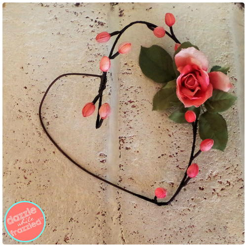 Heart Faux Flower Wreath