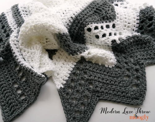 Modern Luxe Crochet Throw