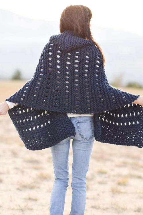 Hooded Knit Adak Wrap