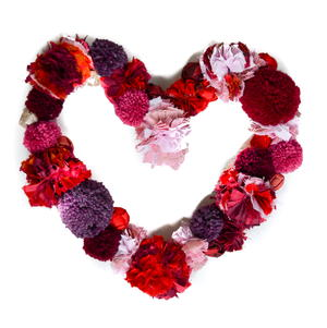 DIY Pom Pom Valentine Wreath