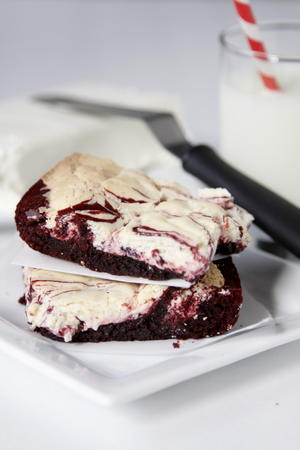 Red Velvet and Cream Cheese Brownies