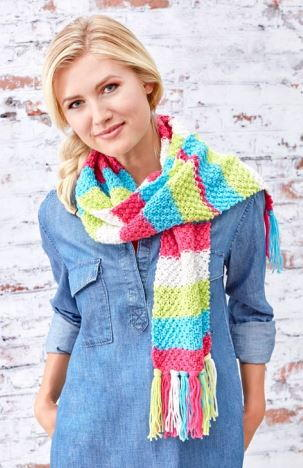 Candy Shop Textured Knit Scarf