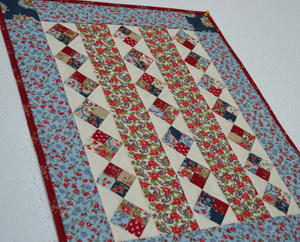 Americana Diamonds Doll Quilt
