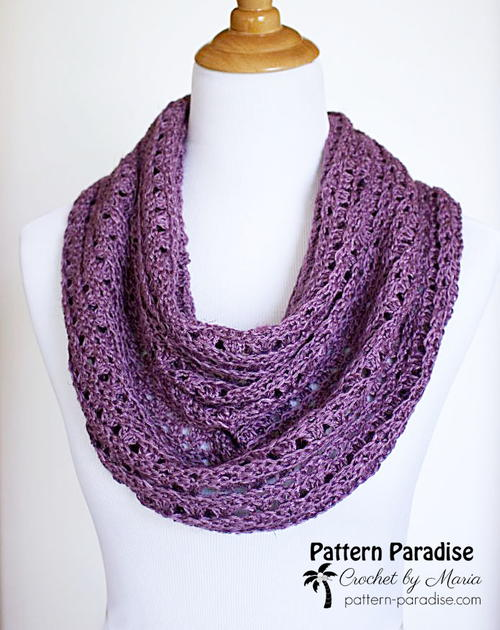 Perfectly Purple Crochet Scarf