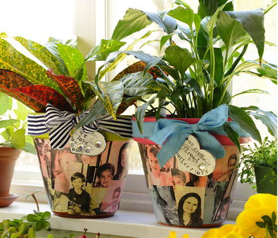 Decoupage Flower Pot