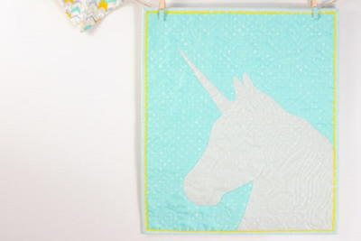 Mythical Unicorn Applique Wallhanging