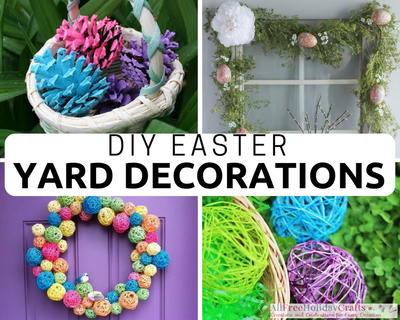 26 Creative Diy Easter Yard Decorations Allfreeholidaycrafts Com