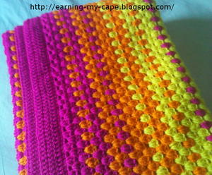 Color-Burst Granny Stripes Blanket