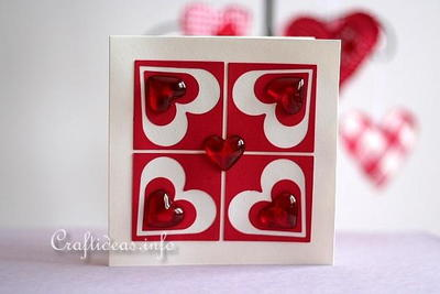 Elegant Hearts Greeting Card