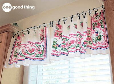 The Easiest DIY Window Valance Ever