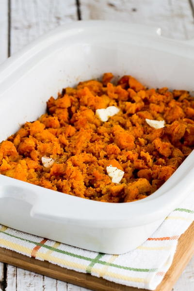 Spicy Slow Cooker Sweet Potatoes